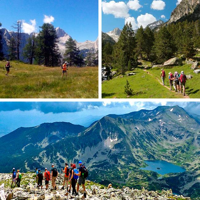 Senderismo en Eslovenia, Bulgaria o Pirineos