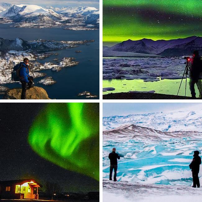 Auroras Boreales en Islandia y Noruega con Tierras Polares