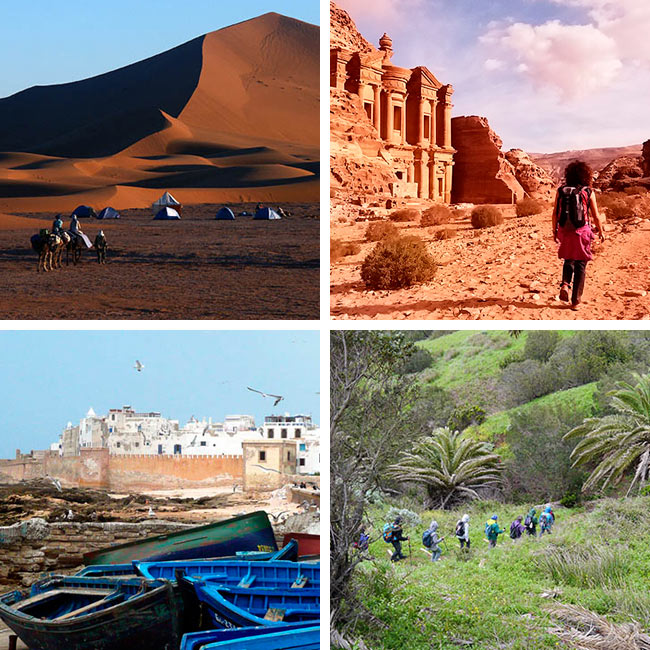 Fin de año en Marruecos, Jordania o La Gomera con ENTORNOS TREKKING