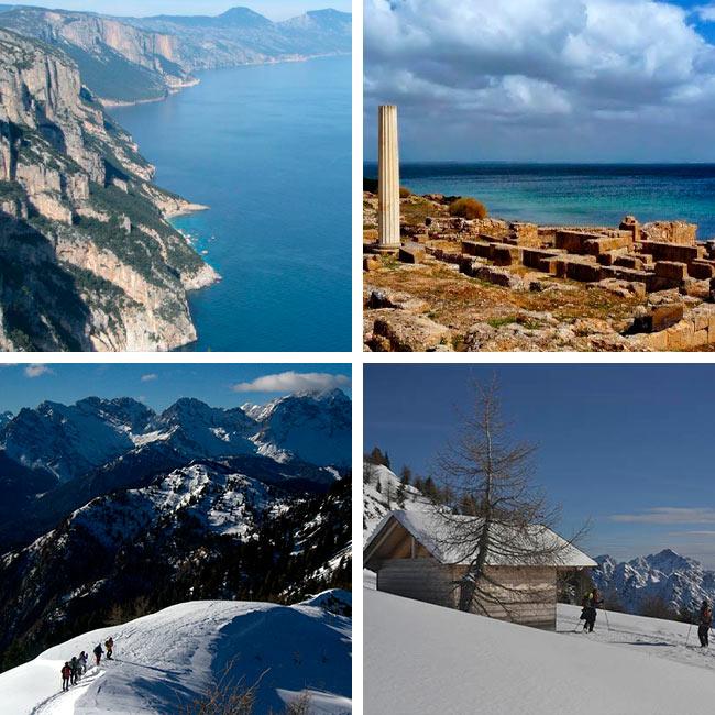Senderismo en Cerdeña o Raquetas en los Alpes, ALVENTUS VIAJES