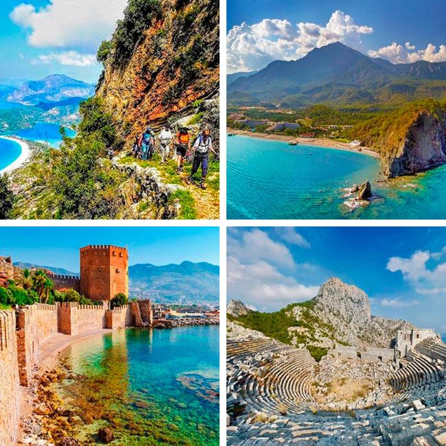 Senderismo en Turquía, Costa Licia y Egeo.